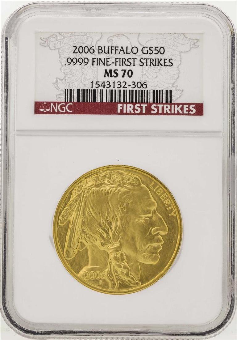 2006 $50 American Gold Buffalo Coin NGC MS70 First
