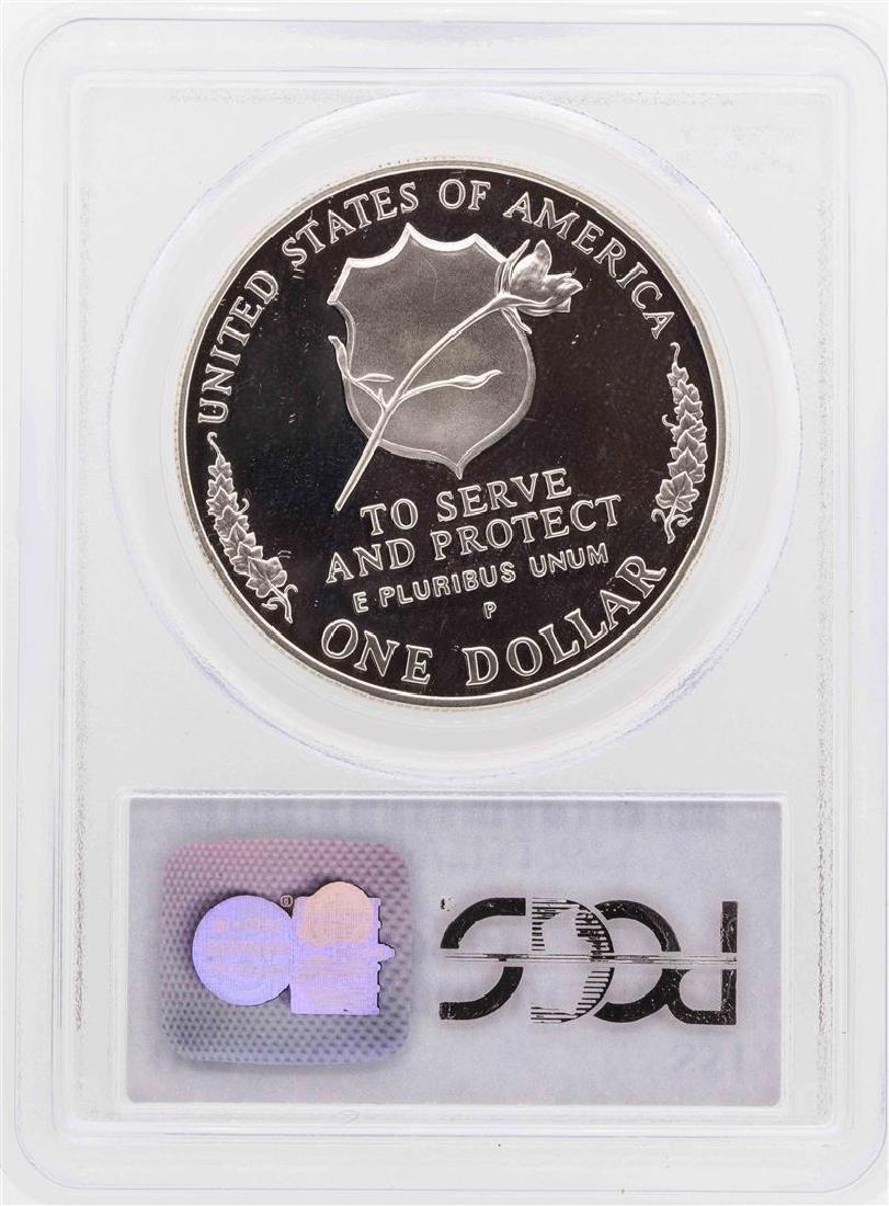 1997-P $1 Law Enforcement Officers Commemorative Silver - 2