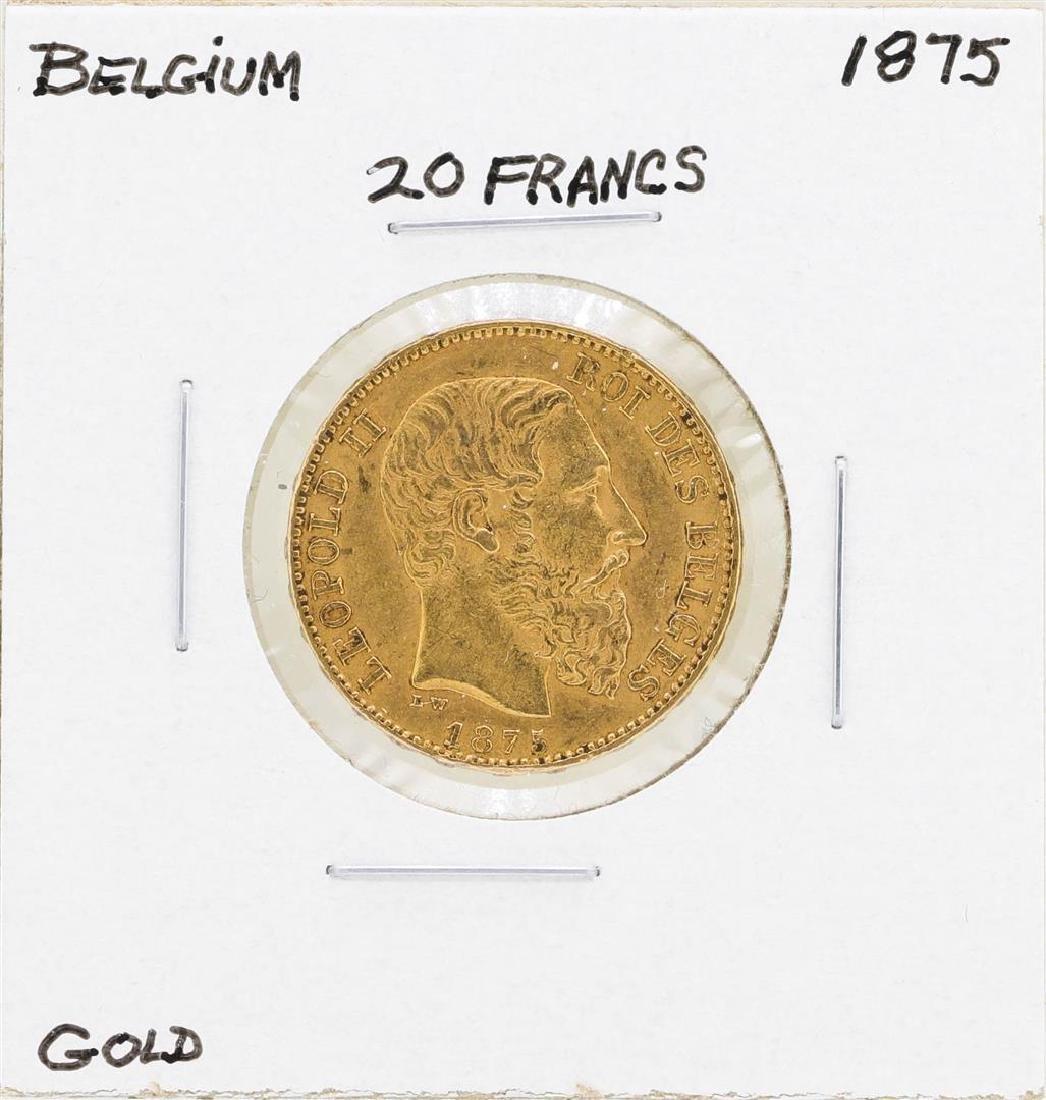 1875 Belgium 20 Francs Gold Coin