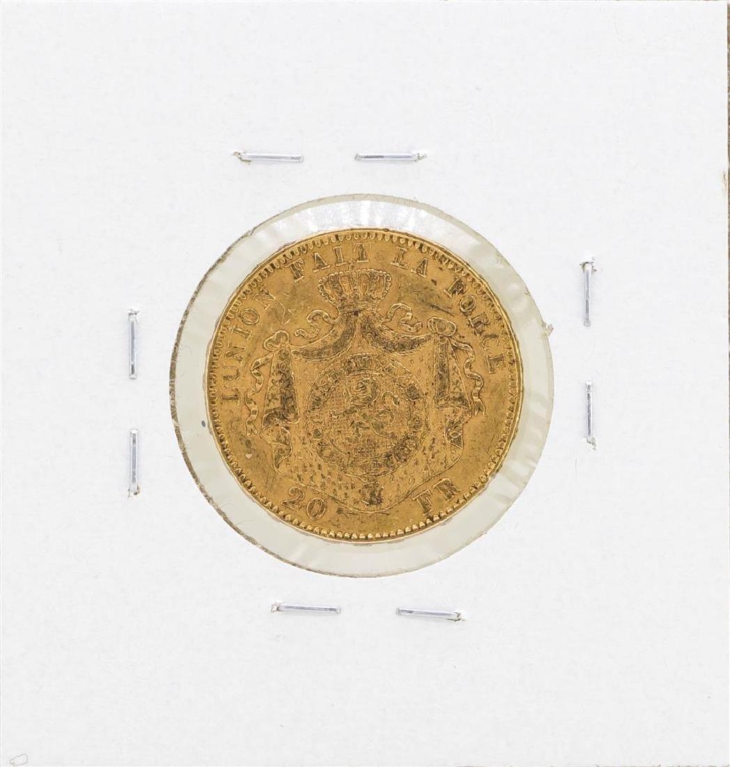 1875 Belgium 20 Francs Gold Coin - 2