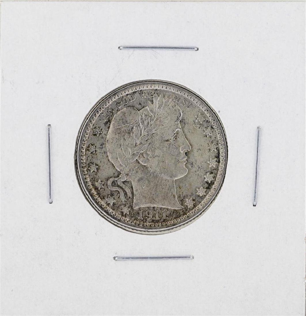 1911-P Barber Quarter Silver Coin