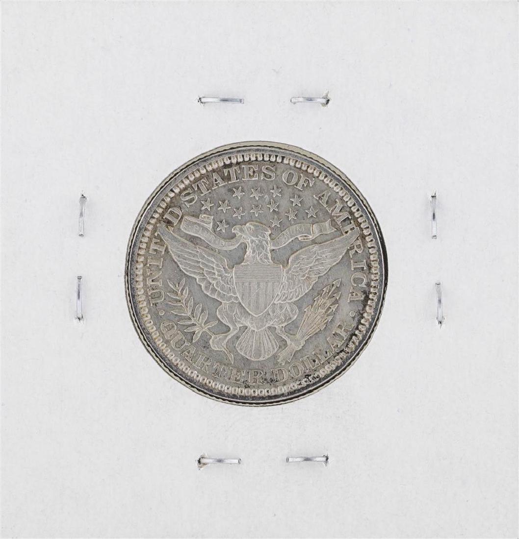 1911-P Barber Quarter Silver Coin - 2