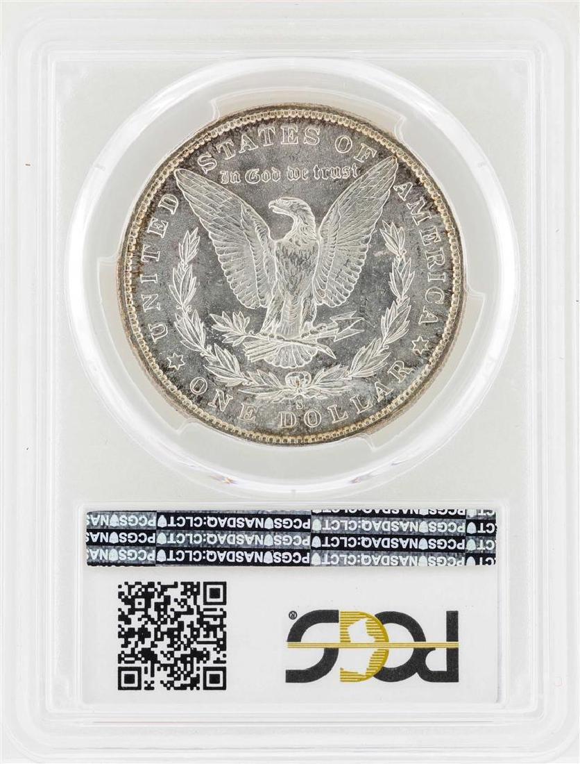 1890-S $1 Morgan Silver Dollar Coin PCGS MS62 - 2