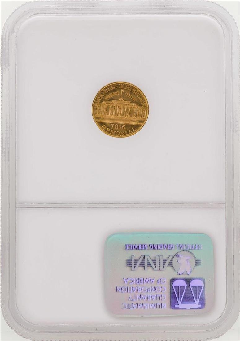1916 $1 Commemorative McKinley Gold Coin NGC MS66 - 2