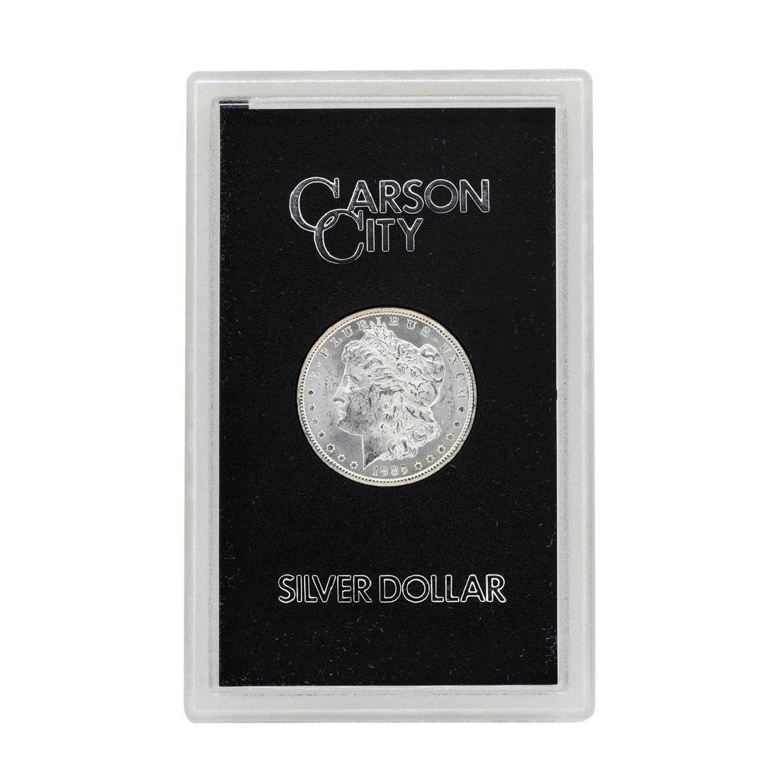 1885-CC $1 Morgan Silver Dollar Coin GSA w/ Box & COA