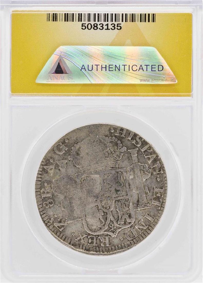 1816-Zs AG Mexico-Zacatecas 8 Reales Silver Coin ANACS - 2