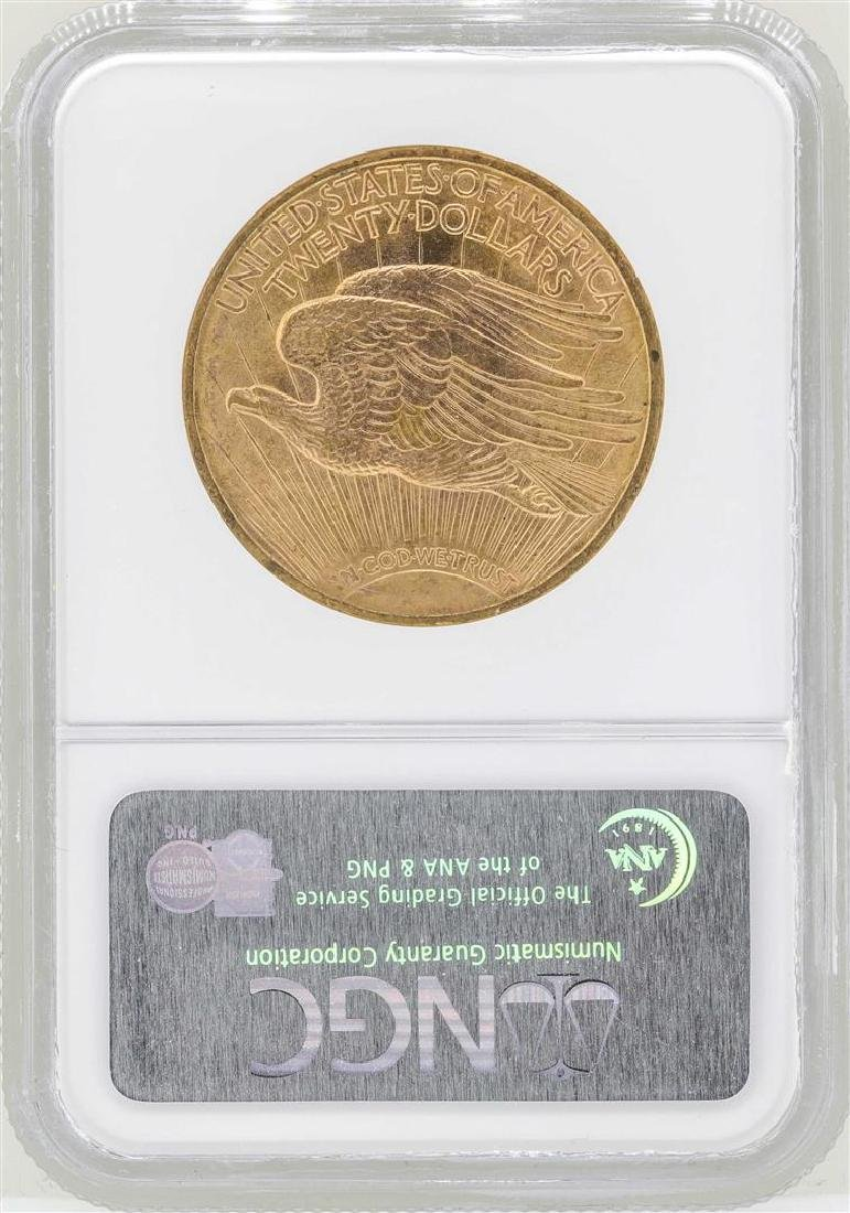1922 $20 St. Gaudens Double Eagle Gold Coin NGC MS62 - 2