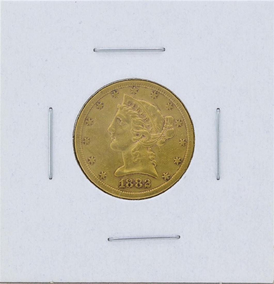 1882-S $5 Liberty Head Half Eagle Gold Coin