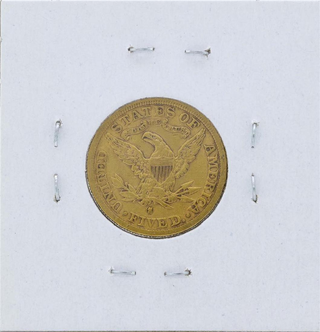 1882-S $5 Liberty Head Half Eagle Gold Coin - 2