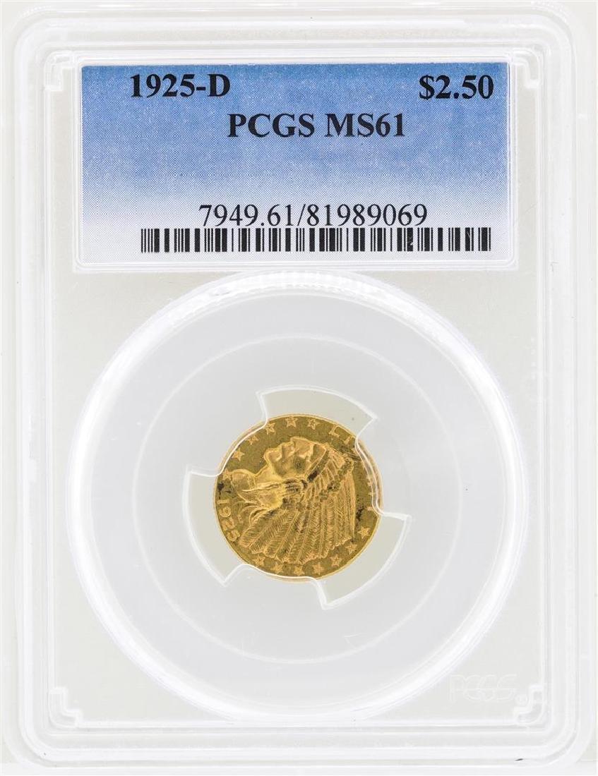 1925-D $2 1/2 Indian Head Quarter Eagle Gold Coin NGC