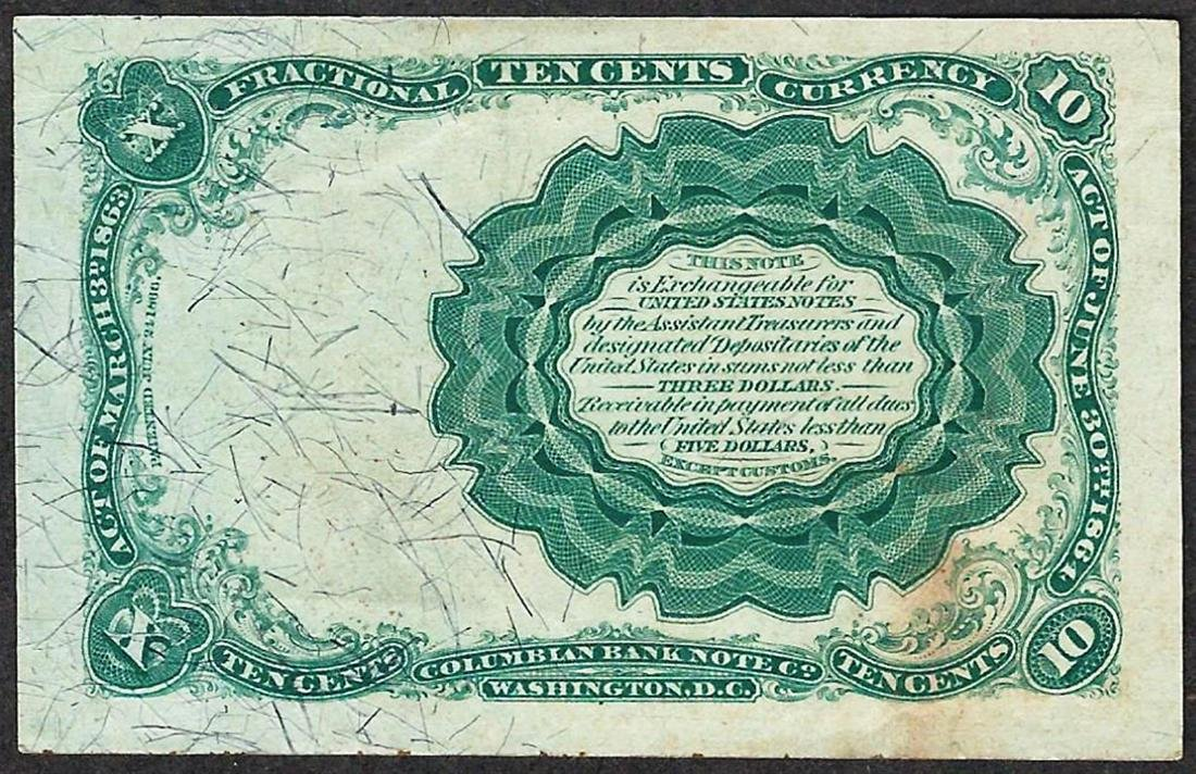 1874 Ten Cents Fifth Issue Fractional Currency Note - 2