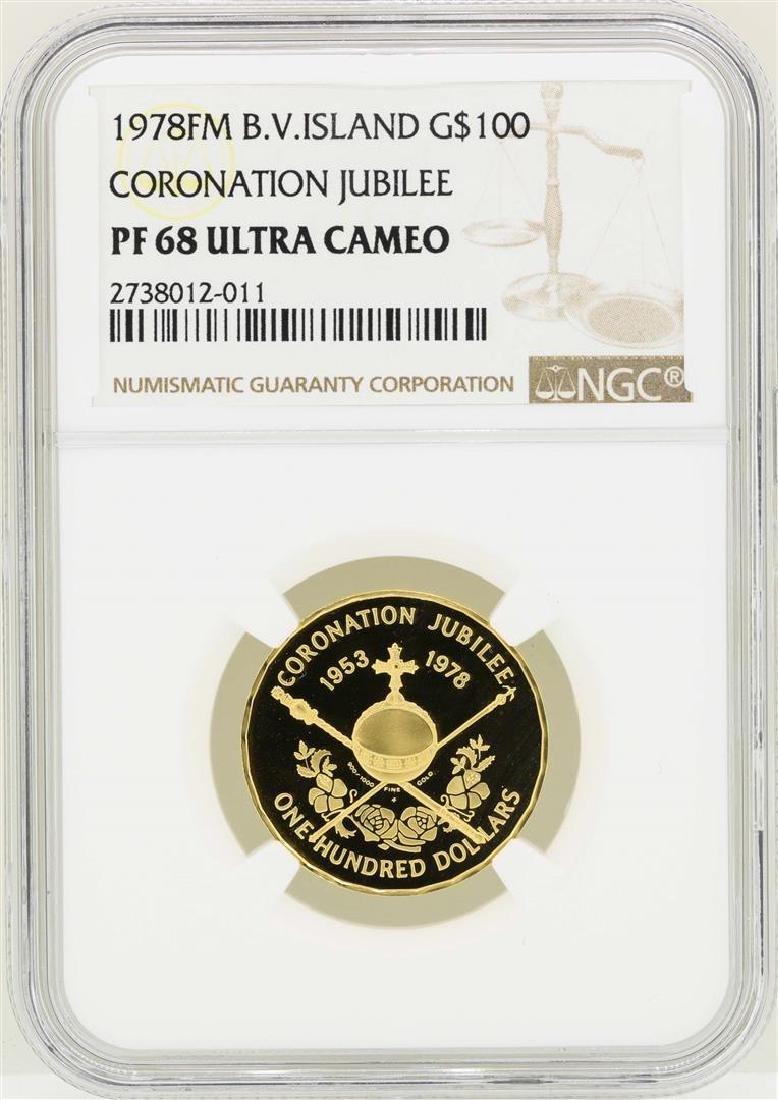 1978FM British Virgin Island $100 Coronation Jubilee