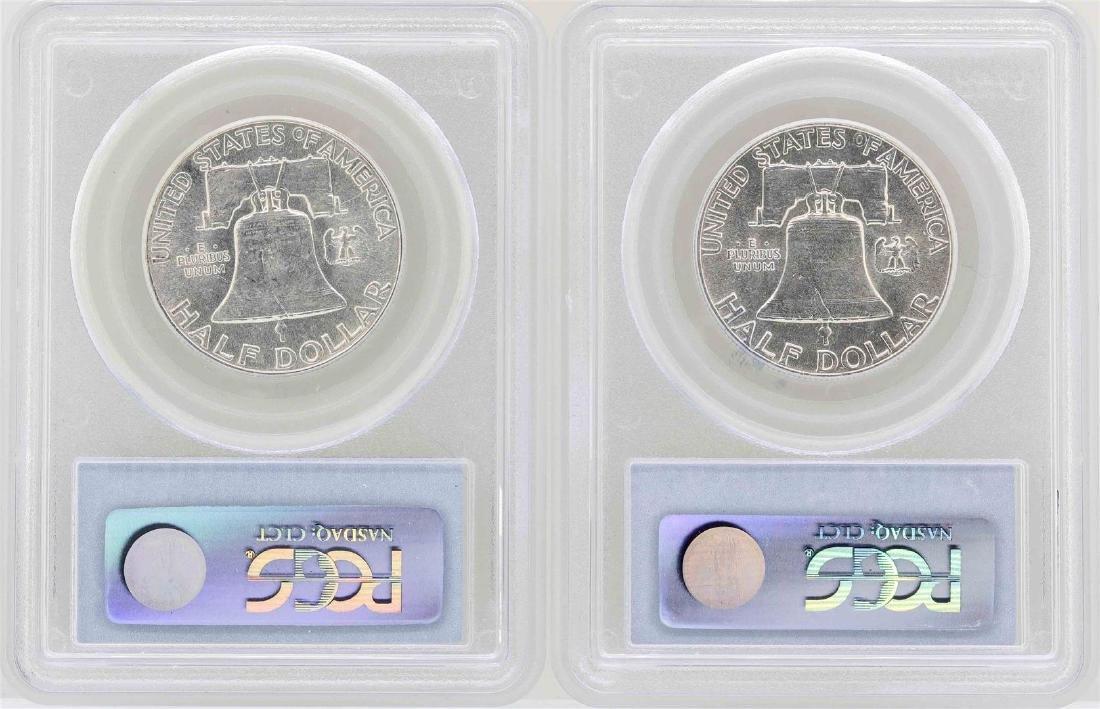 Set of 1949-1950 Franklin Half Dollar Coins NGC AU55 - 2