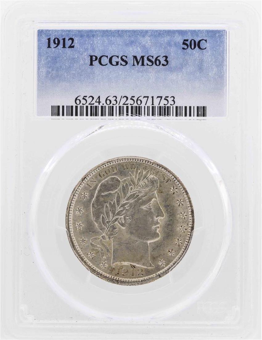 1912 Barber Half Dollar Coin PCGS MS63