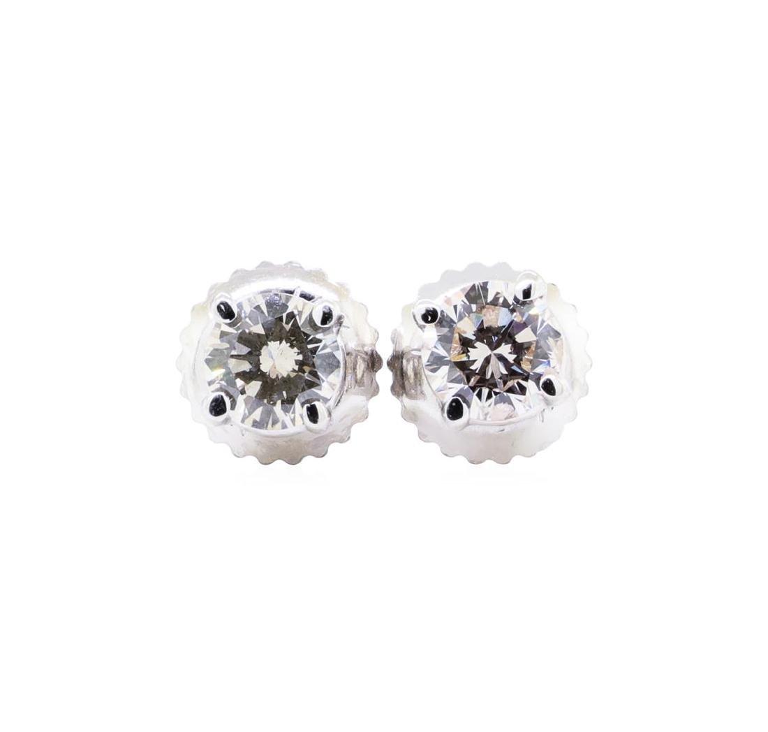 14KT White Gold 0.48 ctw Diamond Stud Earrings