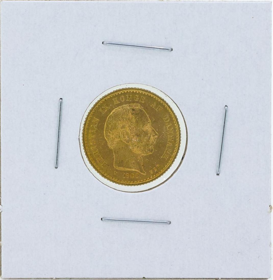 1900 Denmark 10 Kronor Gold Coin