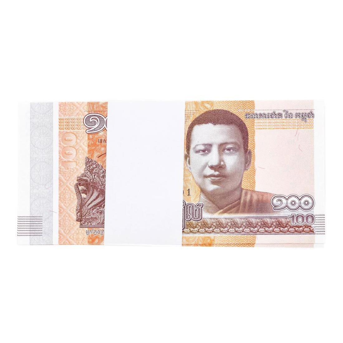 Pack of (100) Consecutive Cambodia 100 Riels