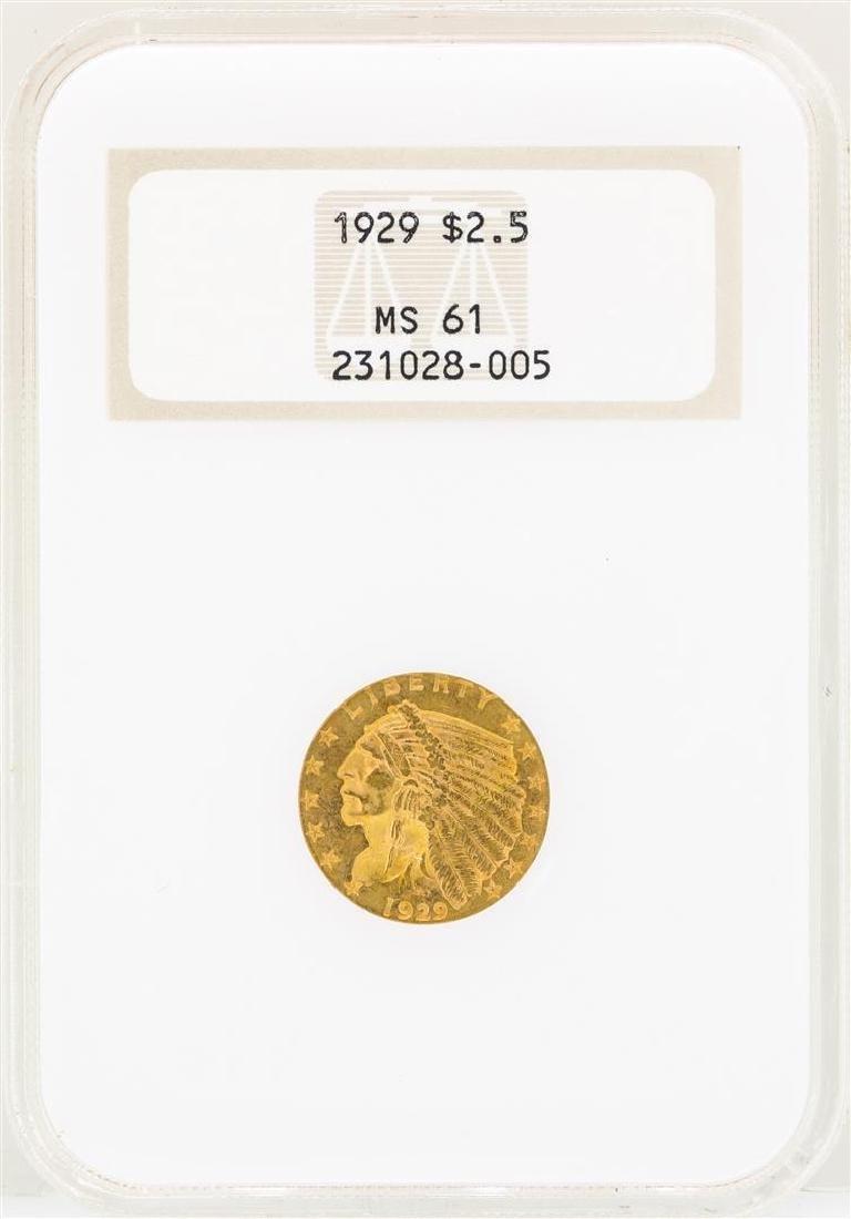 1929 $2 1/2 Indian Head Quarter Eagle Gold Coin NGC