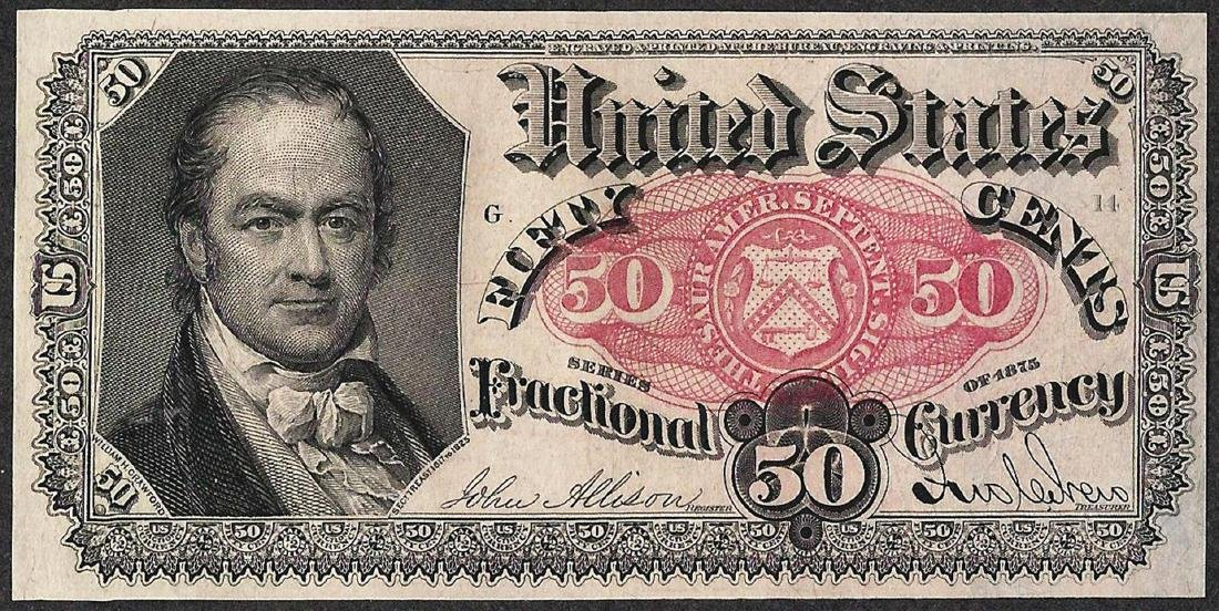 1874 Fifty Cent Fifth Issue Fractional Note