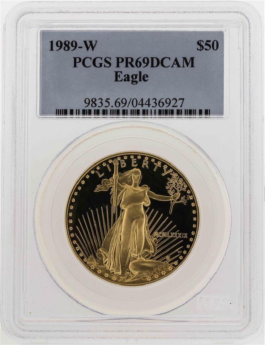 1989-W $50 American Gold Eagle Coin PCGS PR69DCAM