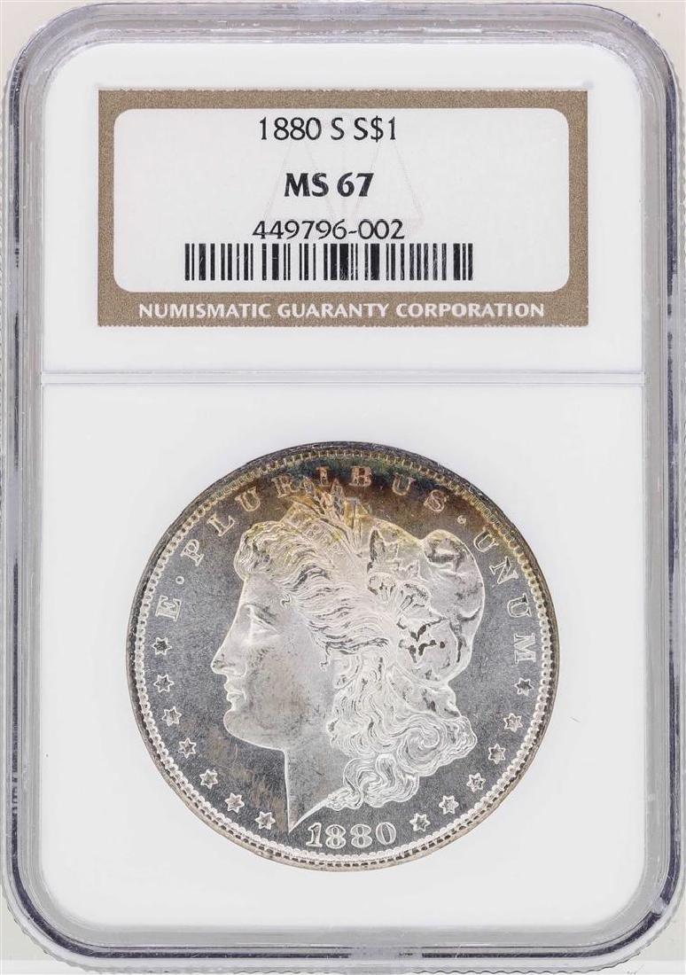 1880-S $1 Morgan Silver Dollar Coin NGC MS67