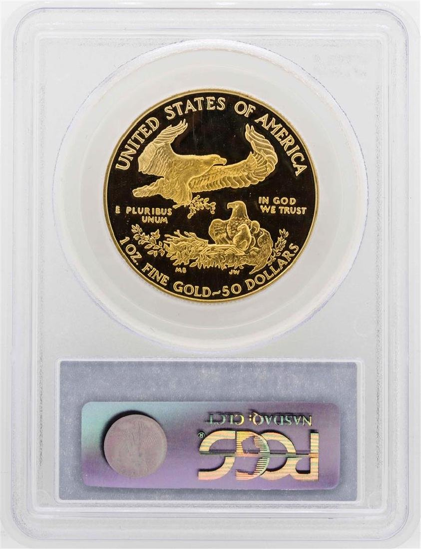 1990-W $50 American Gold Eagle Proof Coin PCGS PR69DCAM - 2