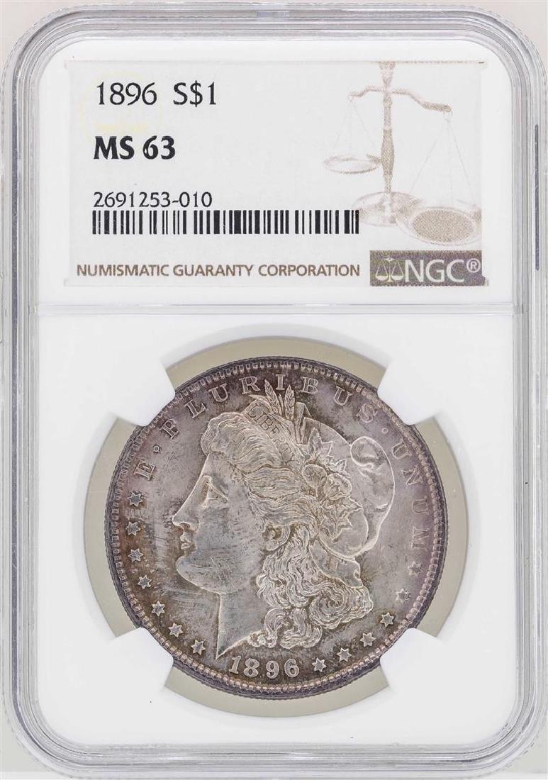 1896 $1 Morgan Silver Dollar Coin NGC MS63