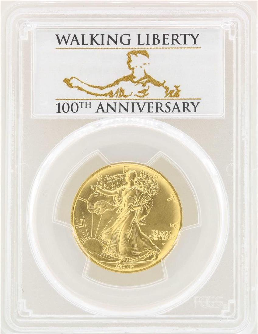 2016-W Walking Liberty Half Dollar Gold Coin 100th