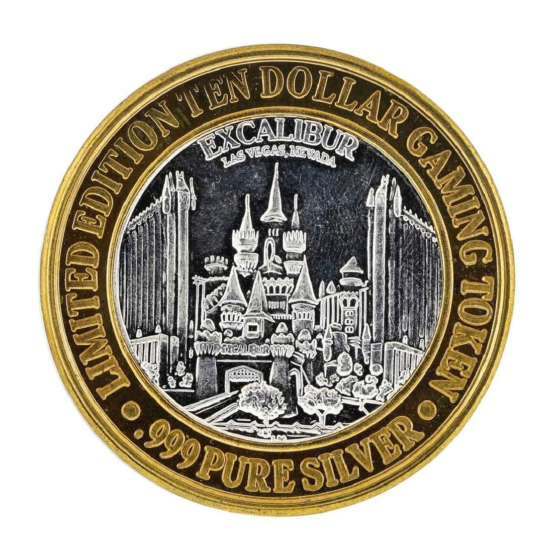 .999 Silver Excalibur Las Vegas, NV $10 Casino Limited - 2