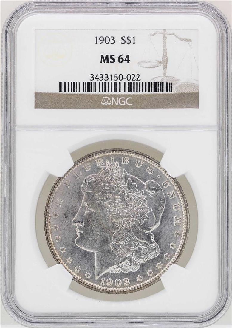 1903 $1 Morgan Silver Dollar Coin NGC MS64