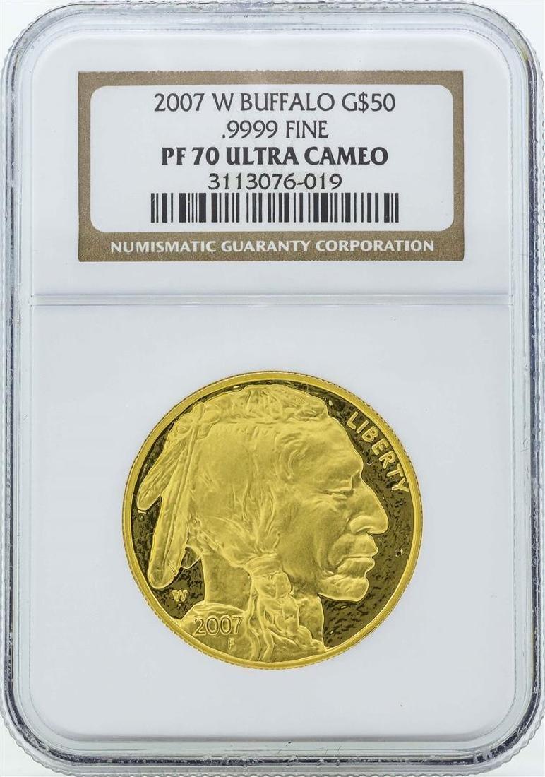 2007-W American Buffalo Gold Coin NGC PF70 Ultra Cameo