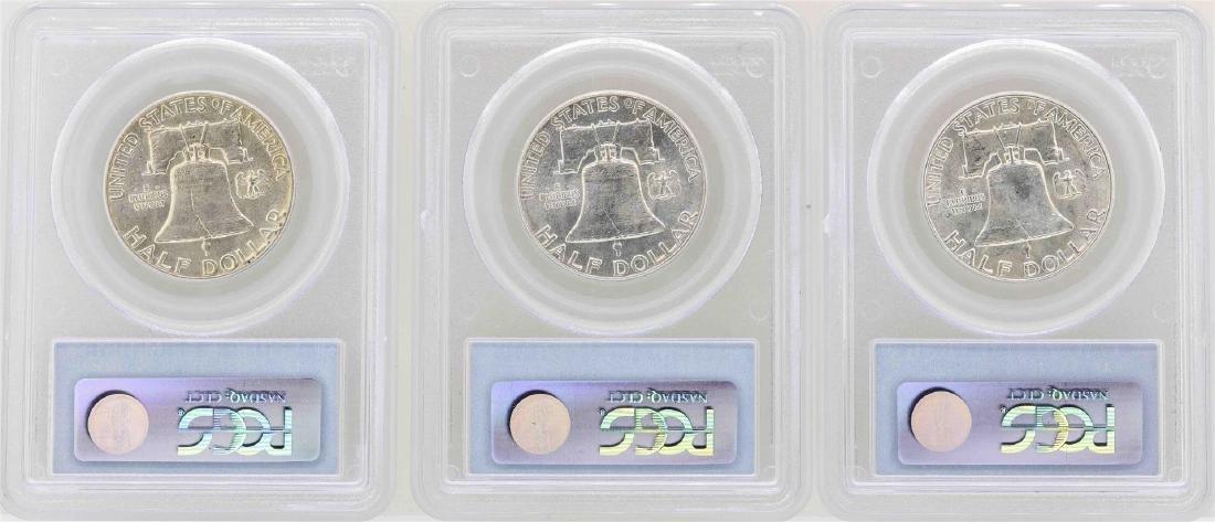 Set of 1950-1952 Franklin Half Dollar Coins NGC AU58 - 2