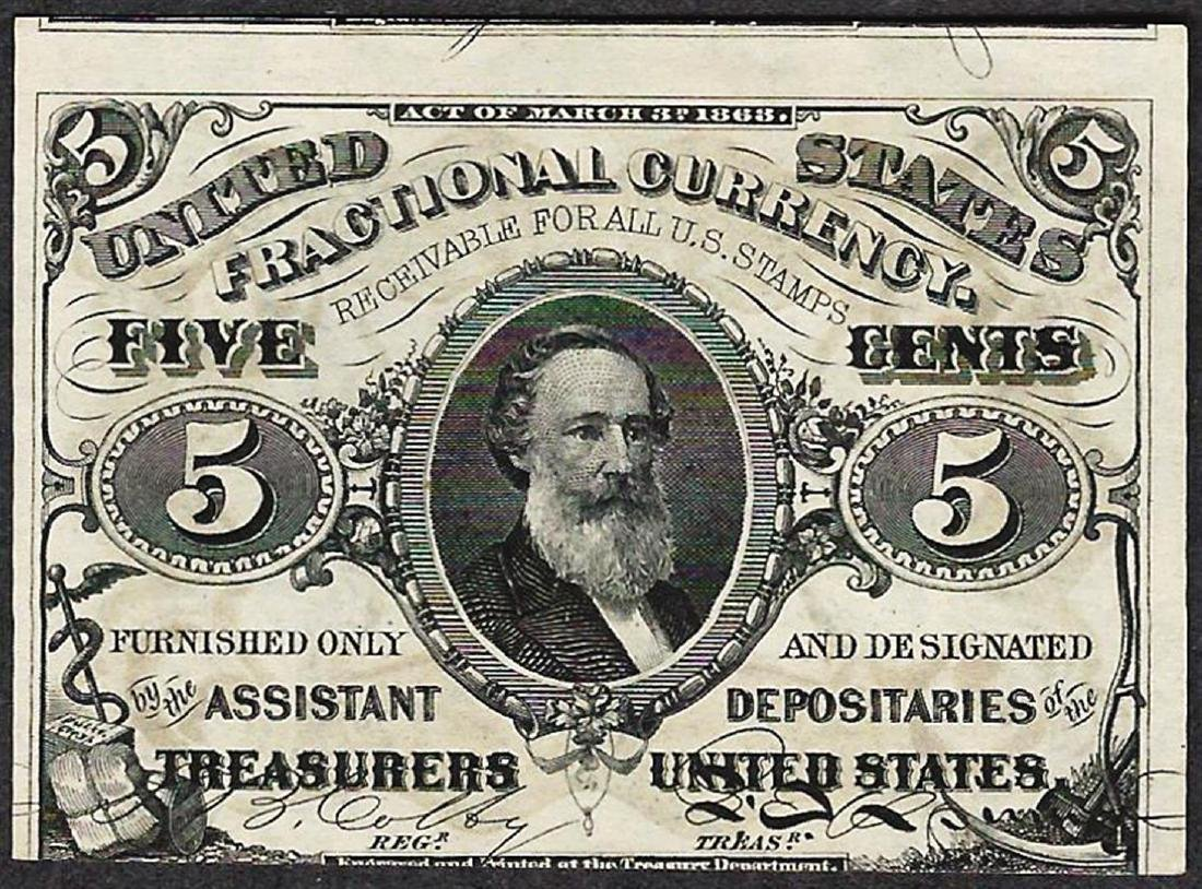 March 3, 1863 Five Cents Third Issue Fractional