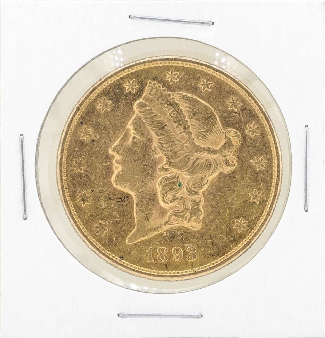 1893-S $20 Liberty Head Double Eagle Gold Coin
