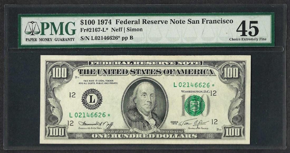 1974 $100 Federal Reserve STAR Note San Francisco PMG