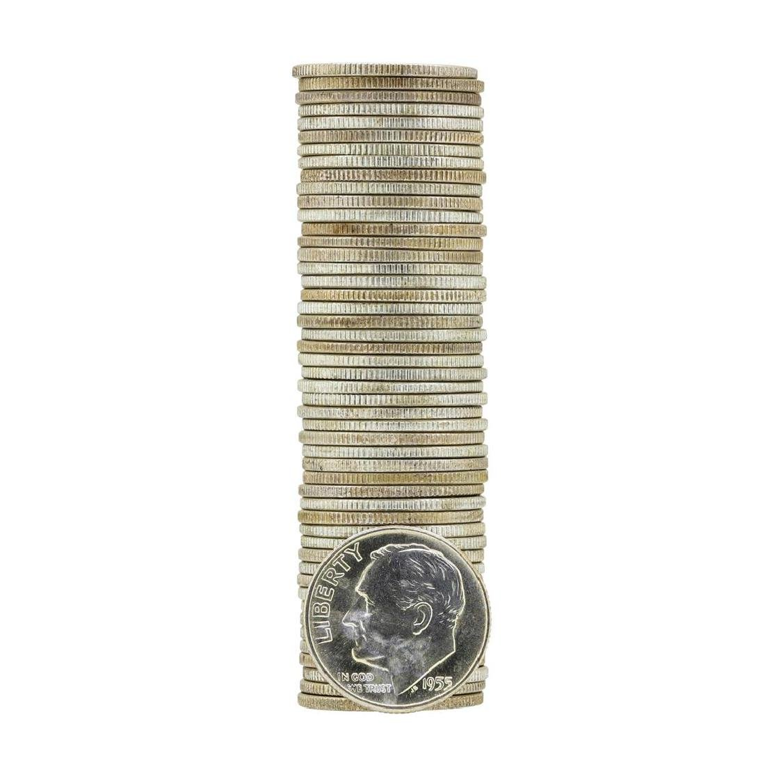 Roll of (50) 1955-D Brilliant Uncirculated Roosevelt