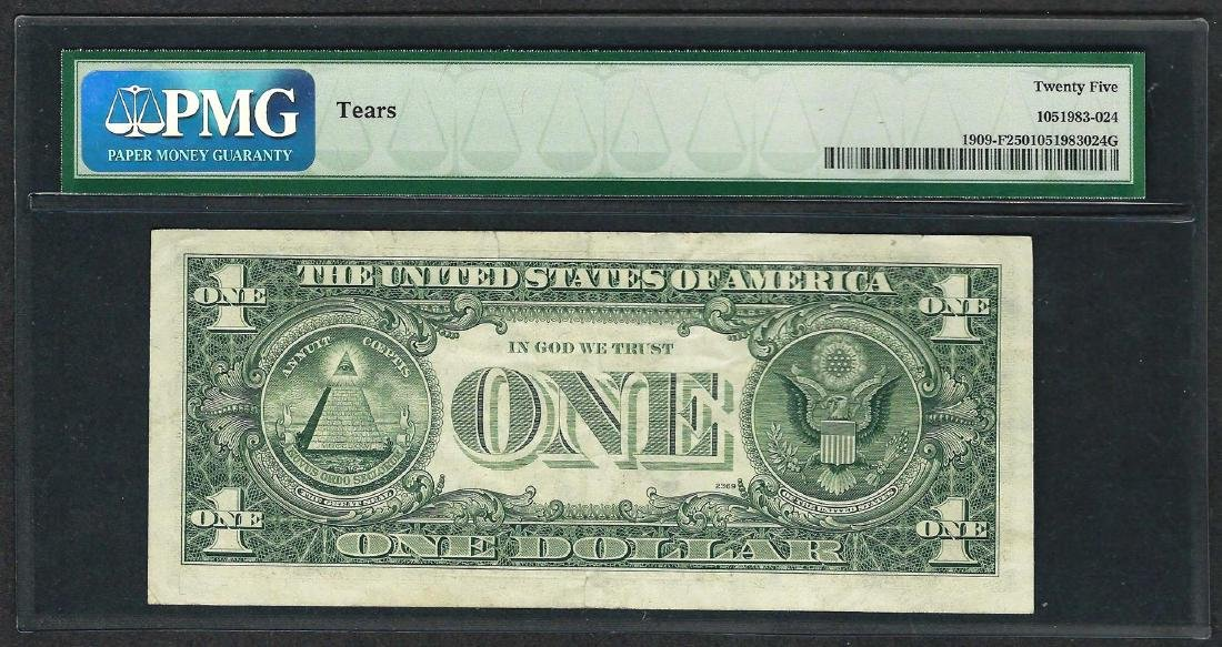 1977 $1 Federal Reserve Note ERROR Inverted 3rd Print - 2