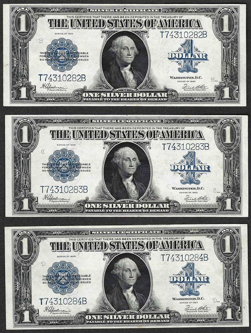 Lot of (3) Consecutive 1923 $1 Silver Certificate Notes