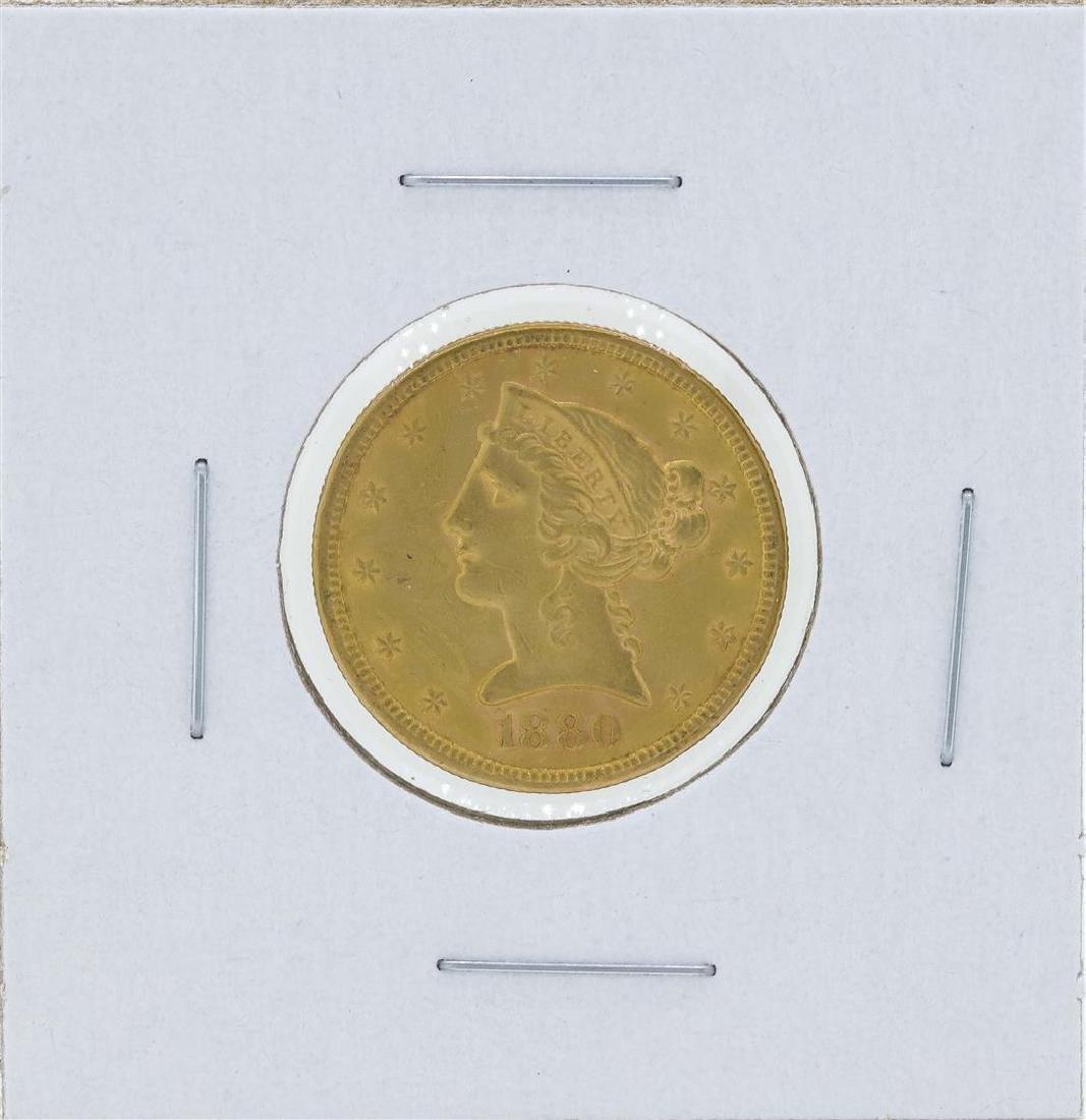 1880-S $5 Liberty Head Half Eagle Gold Coin