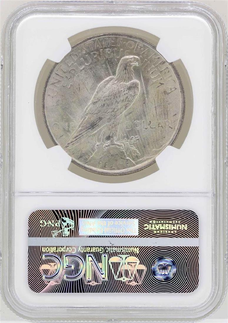 1922 $1 Peace Silver Dollar Coin NGC MS63 - 2
