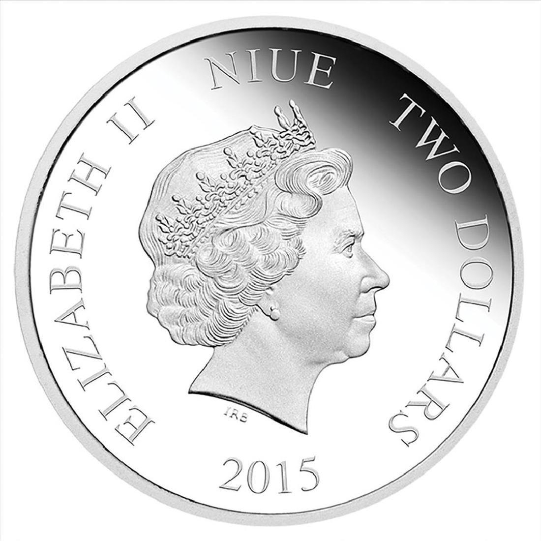 2015 $2 Disney Daisy Duck .999 Fine Silver Proof Coin - 2