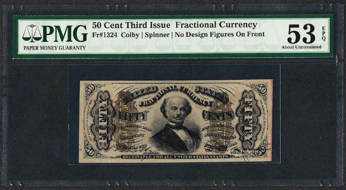 1863 Third Issue 50 Cent Fractional Currency Note PMG