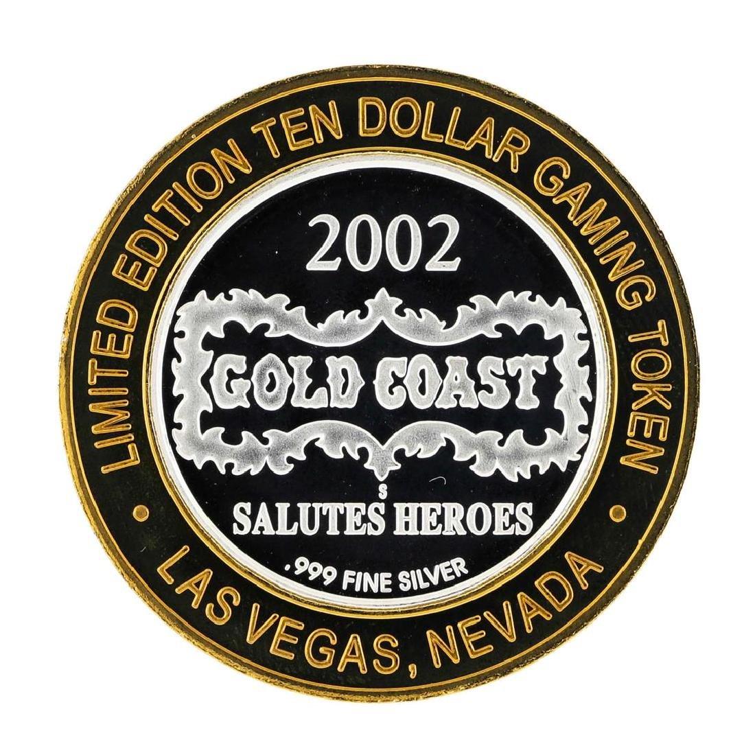 .999 Silver Gold Coast Las Vegas, Nevada $10 Casino - 2