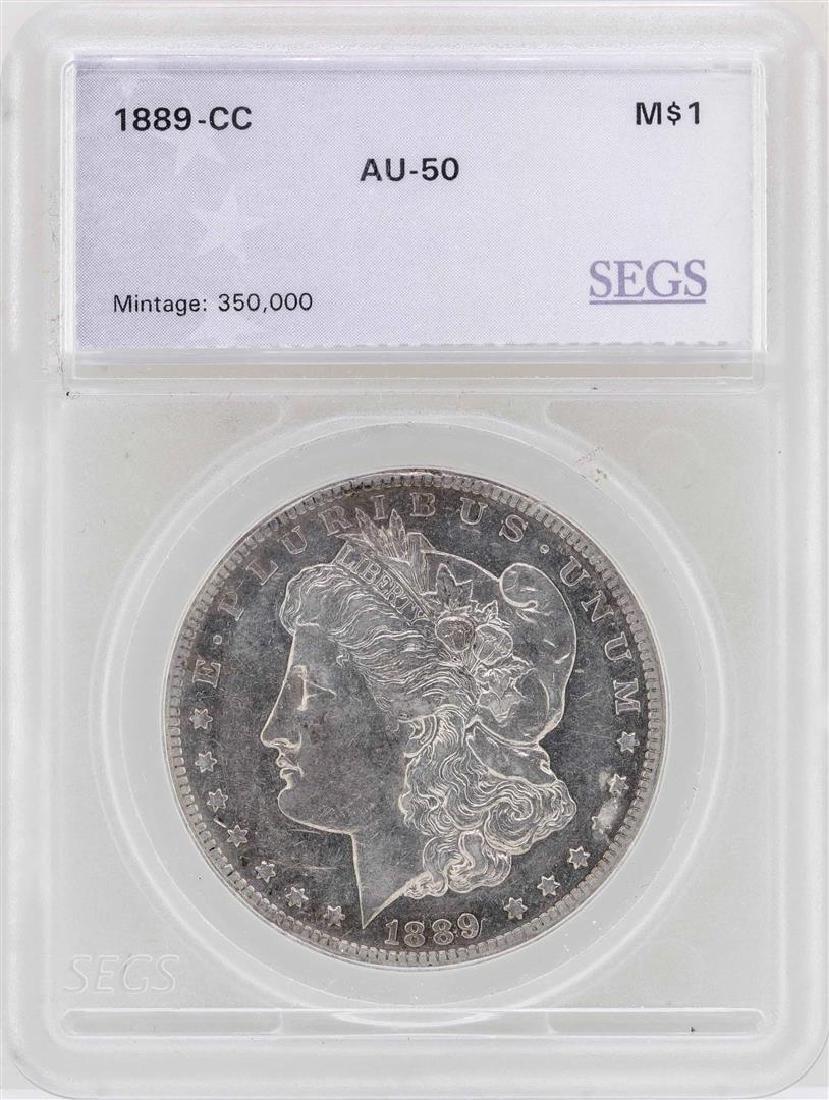 1889-CC $1 Morgan Silver Dollar Coin
