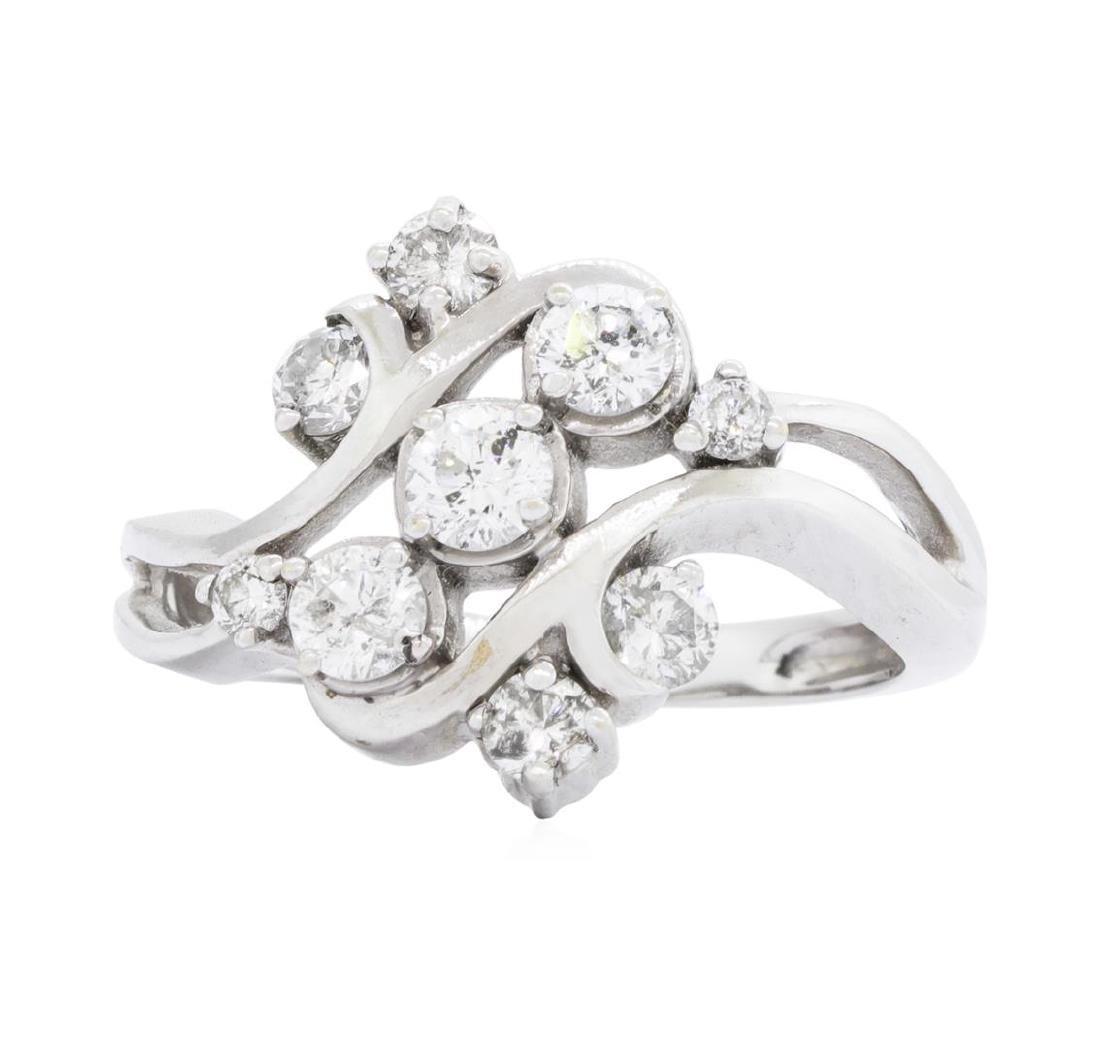 14KT White Gold 0.85 ctw Diamond Ring