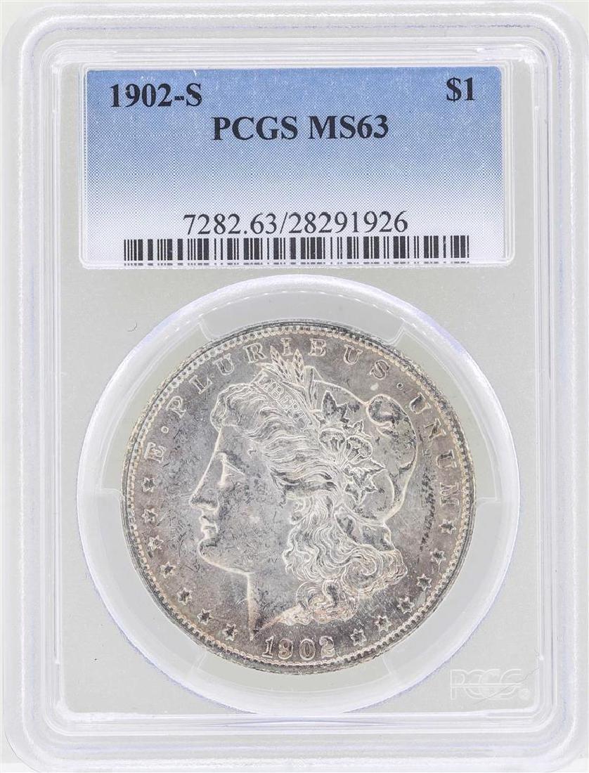 1902-S $1 Morgan Silver Dollar Coin PCGS MS63