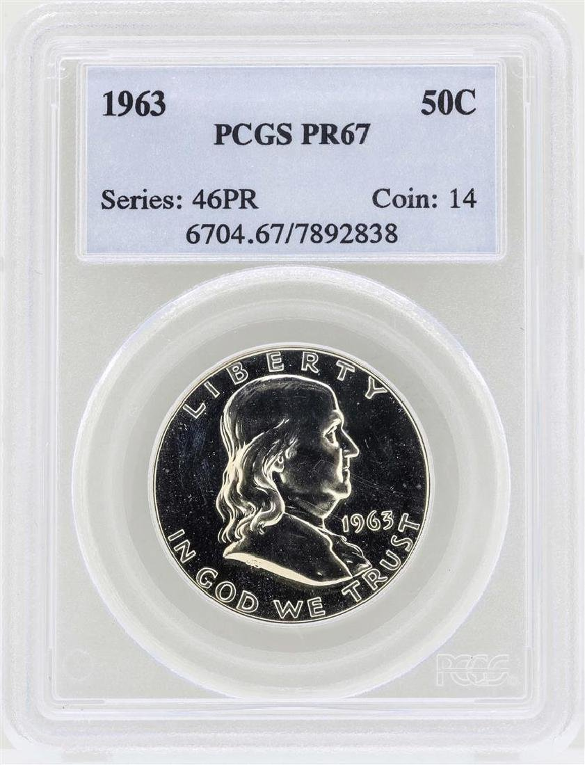 1963 Franklin Half Dollar Proof Coin PCGS PR67