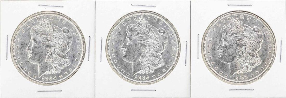 Lot of (5) 1888-O $1 Morgan Silver Dollar Coins