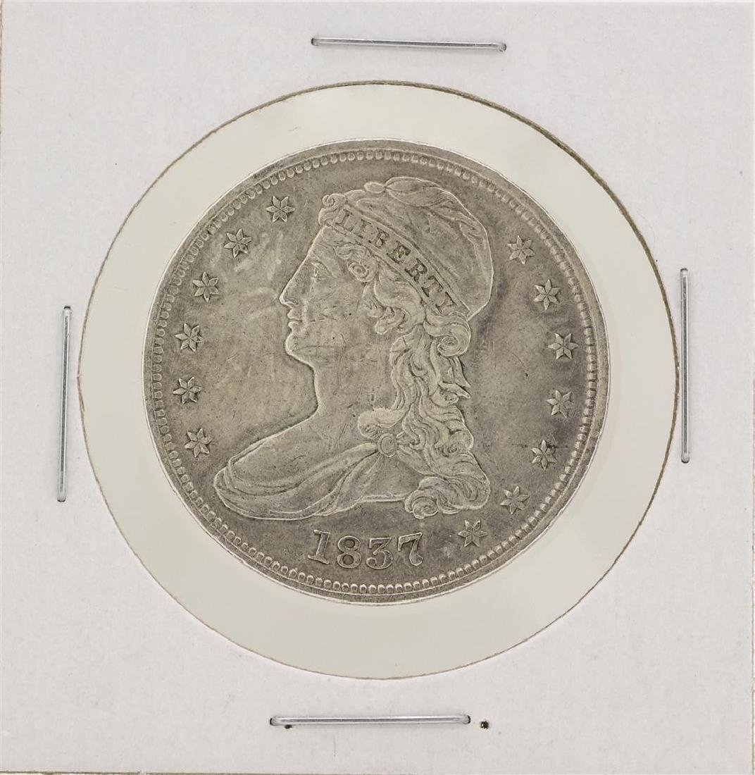 1837 Capped Bust Half Dollar Silver Coin