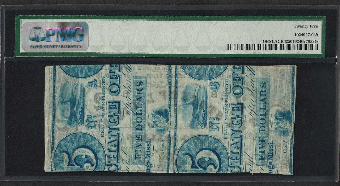 1862 $2 The State of Louisiana Obsolete Note PMG Very - 2